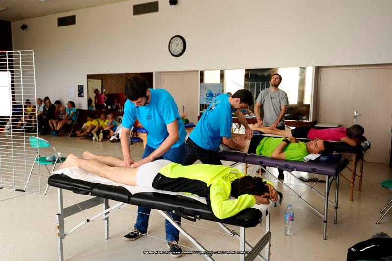 Des massages décontracturant et de récupération à l'issue du marathon