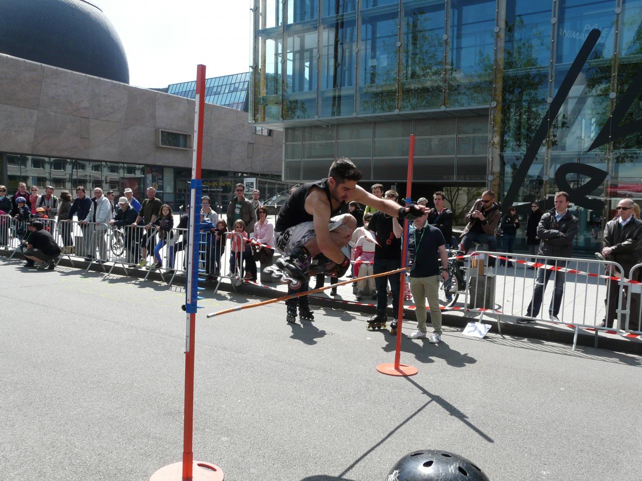L'épreuve internationale de saut en hauteur