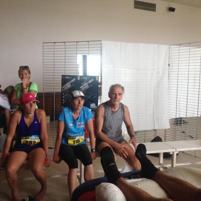 Quelques marathoniens en attente de soins