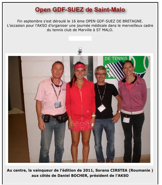 Tournoi  tennis Open GDF Suez, St-Malo